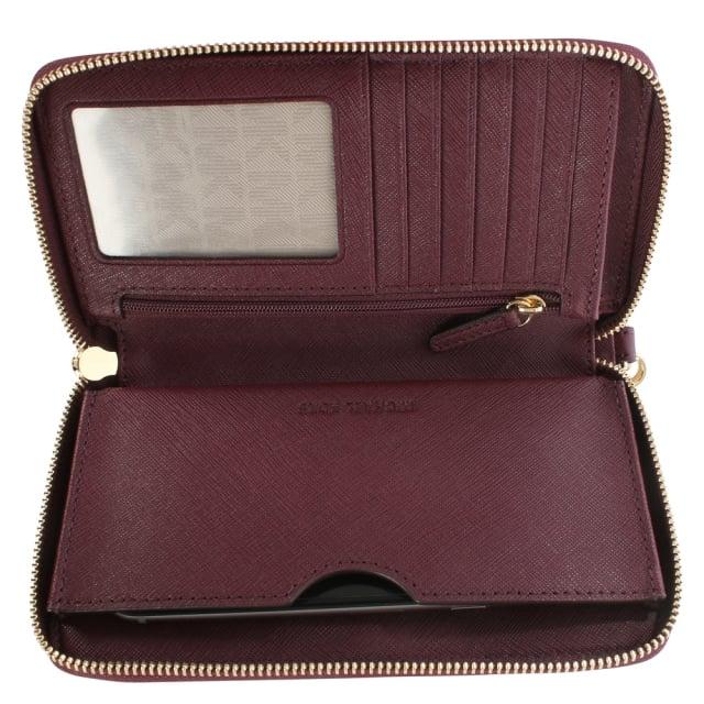 c21f8d6c24ed Micheal Kors Jet Set Travel Plum Leather Smartphone Wristlet Wallet
