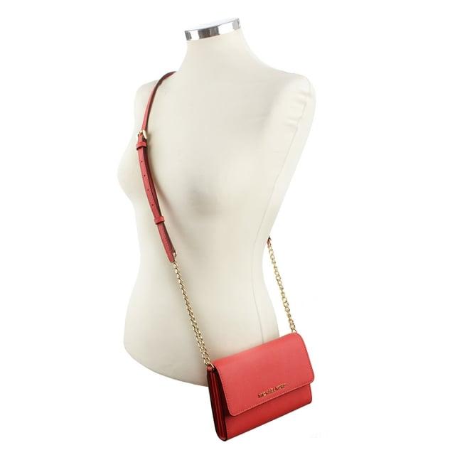 d27dd2d813061 ... michael kors jet set travel large smartphone wristlet luggage Jetset  Travel Coral Reef Leather Smartphone Cross-Body Bag .