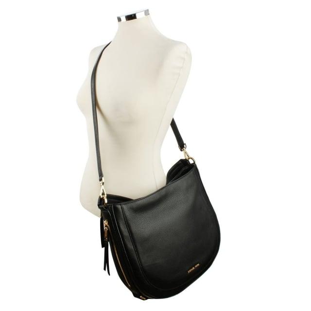 e1e8165b6fd286 Michael Kors Julia Medium Black Leather Shoulder Bag