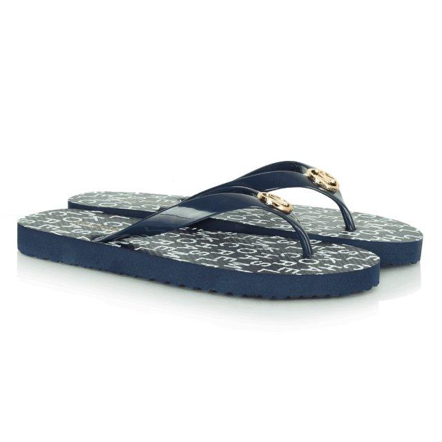 3c4d4d4531f36 Michael Kors Navy MK Women s Flip Flop