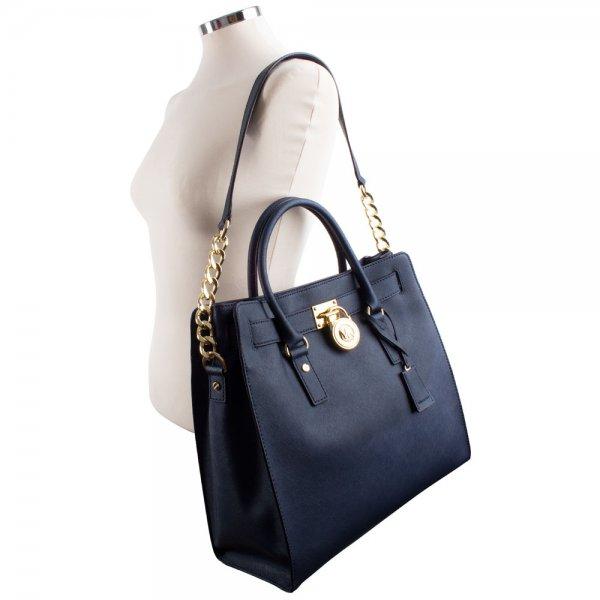 ac15c8beb9d2 Michael Kors Navy Saffiano Hamilton Tote Women s Bag