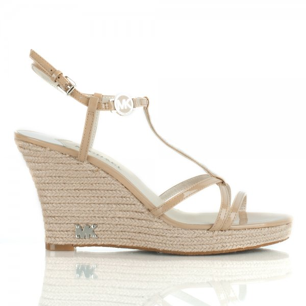 118eb565002 Michael Kors Nude Kami T Strap Wedge Heel Women s Sandal