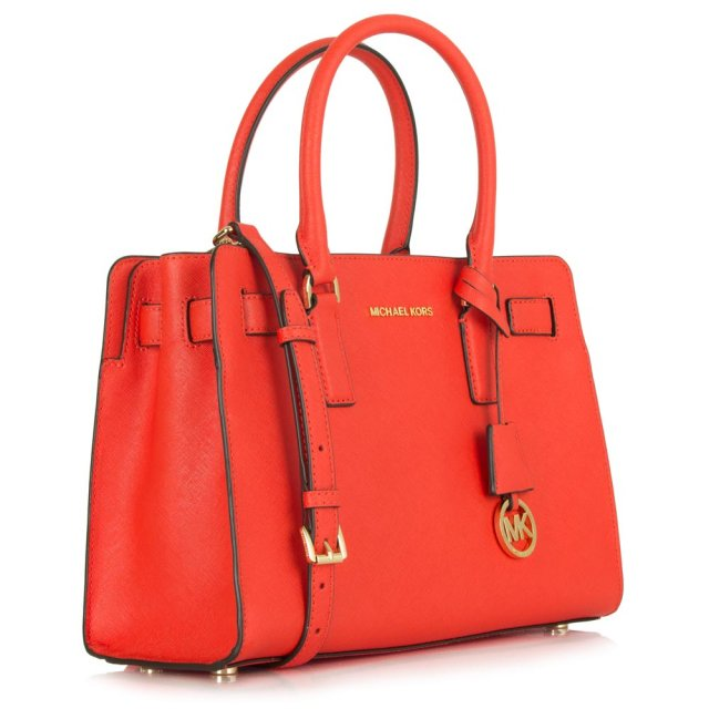 73b569131f6d Michael Kors Orange Leather Dillon Satchel Tote Bag