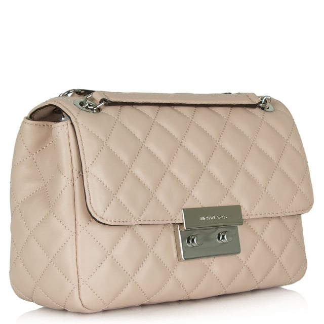 809308cb6bdd Micheal Kors Sloan Large Pink Leather Quilted Chain Shoulder Bag. Michael  ...