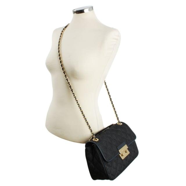 8549694d60c7 Michael Kors Sloan Large Quilted Denim Shoulder Bag