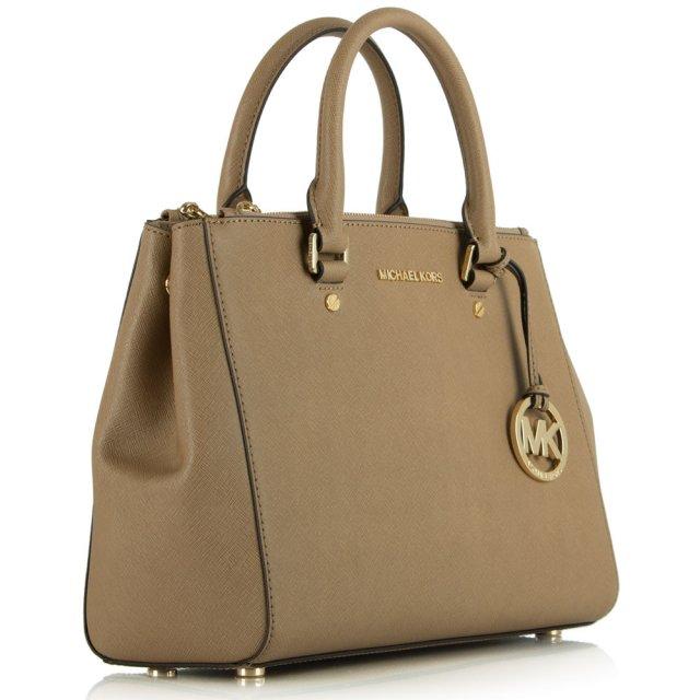 Sutton Medium Beige Leather Satchel Bag 1fa12a02f8ae8