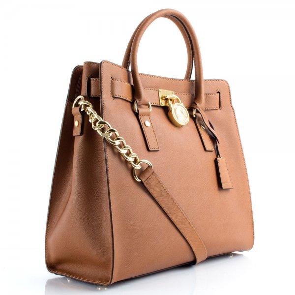 Michael Kors Tan Saffiano Hamilton Tote Women s Bag 49addd7b59c87