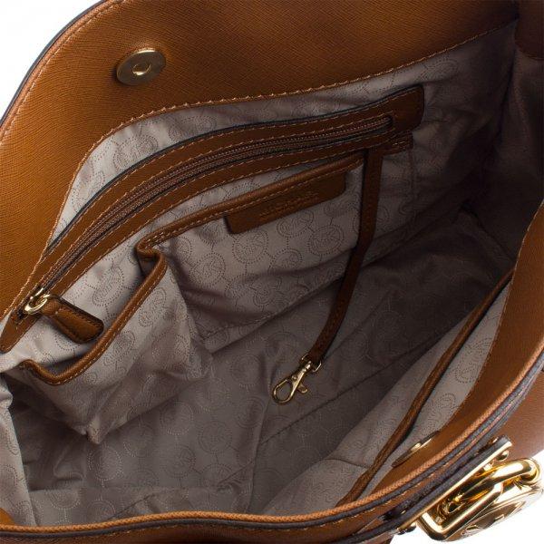 02dd6a0ff24f Michael Kors Tan Saffiano Hamilton Tote Women s Bag