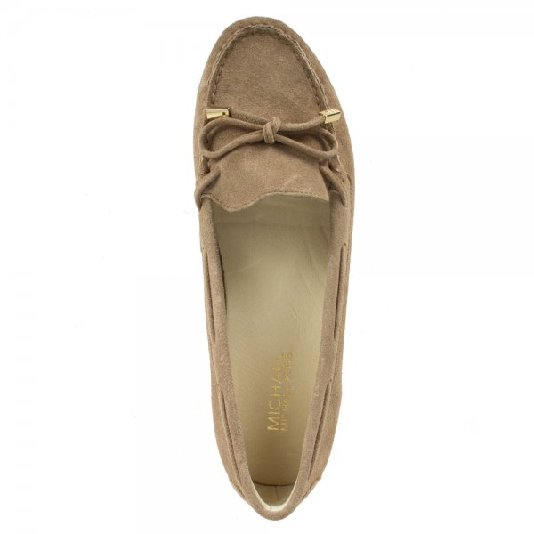 6893712d702 Michael Kors Taupe Daisy Women s Suede Loafer