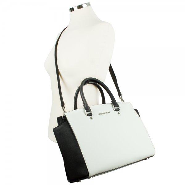 Michael Kors Women s White Selma Satchel Bag 64fed000d8