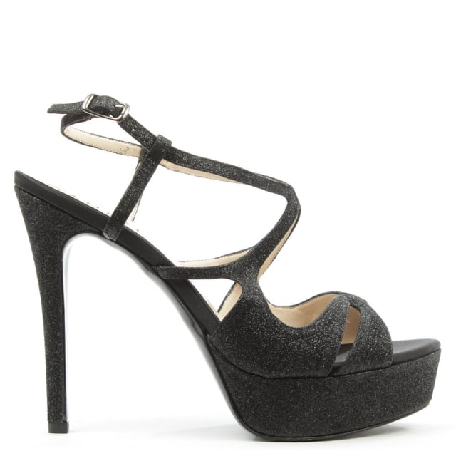 Michelline-Black-Glitzy-Platform-Sandal