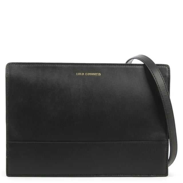 Mid Daphne Black Leather Crossbody