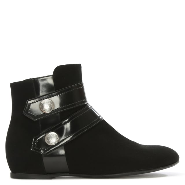 Middlemarch Black Suede Studded Ankle Boot