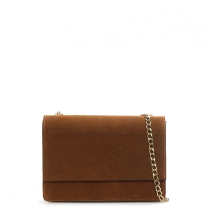 Milla Tan Suede Chain Shoulder Bag