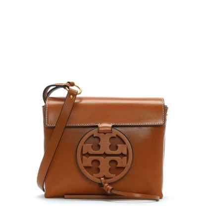 Miller Aged Camello Leather Cross-Body Bag