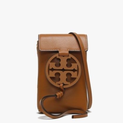 9c5335909aa95d Miller Aged Camello Leather Phone Case Cross-Body Bag. Free Standard UK  Delivery. Tory Burch ...