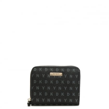 Milly Black Logo Zip Around Purse