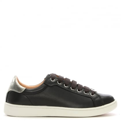 Milo Black Leather Lace Up Trainer