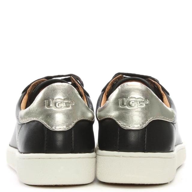 8ebea36f44e Milo Black Leather Lace Up Trainers