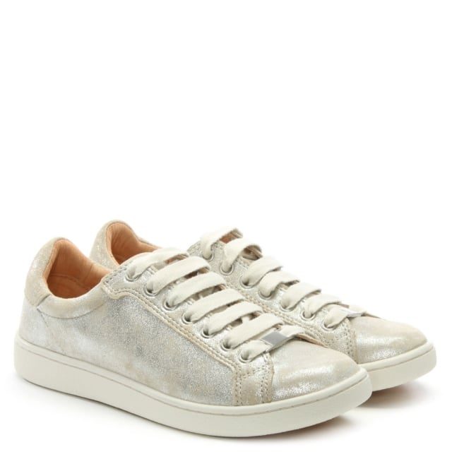 1b245e20c18 Milo Stardust Leather Lace Up Trainers