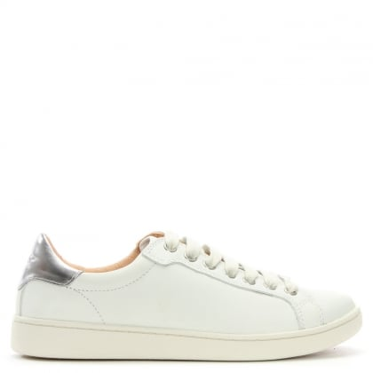 Milo White Leather Lace Up Trainer