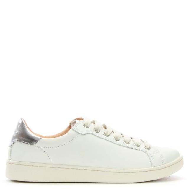 a1a773f17e5 Milo White Leather Lace Up Trainers