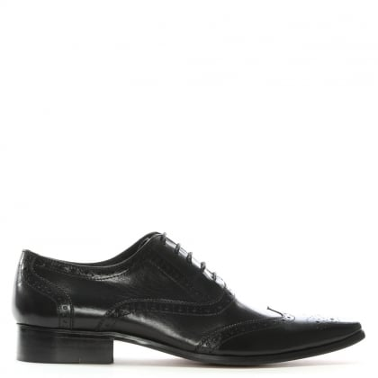 Milverton Black Leather Lace Up Brogues