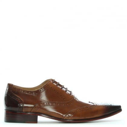 Milverton Tan Leather Lace Up Brogues
