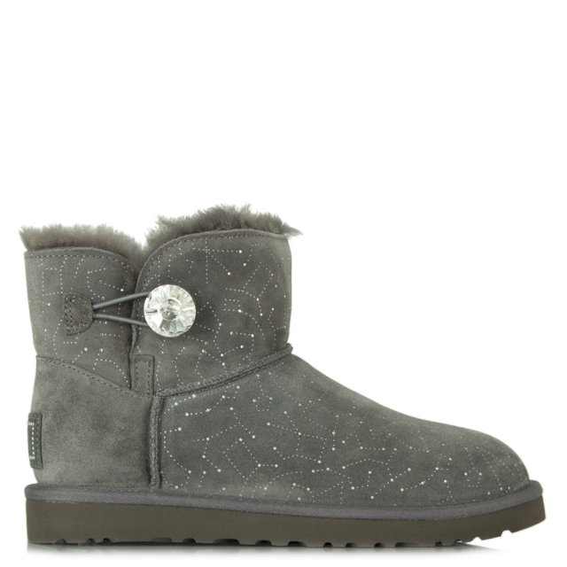 UGG Mini Bailey Bling Grey Suede Constellation Boot 4b5324d767