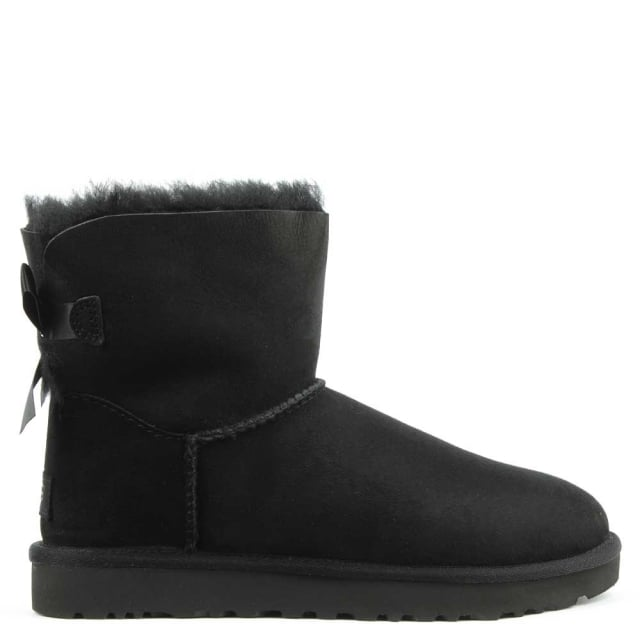 Mini Bailey Bow II Black Twinface Boot
