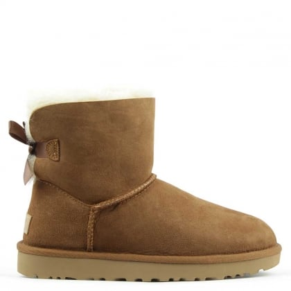 UGG Mini Bailey Bow II Chestnut Twinface Boot