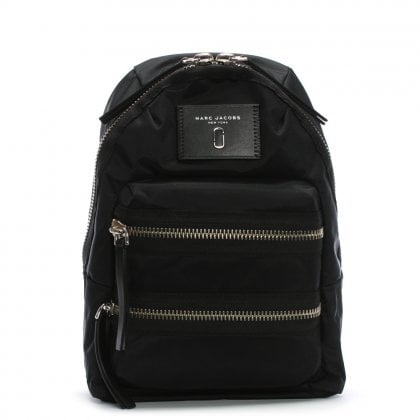 Mini Biker Black Nylon Backpack