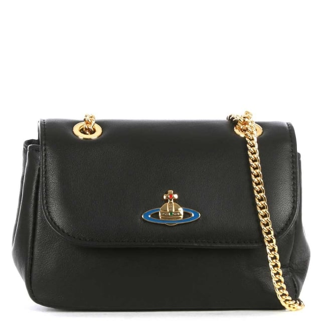Mini Na Black Leather Cross Body Bag