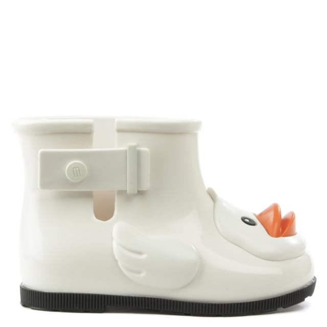 Mini Rain Duck White Wellington Boot