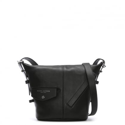 Mini Sling Black Leather Cross-Body Bag