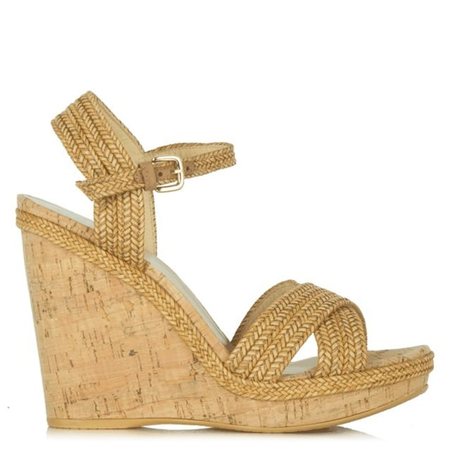 Minx Tan Leather Wedge Sandal