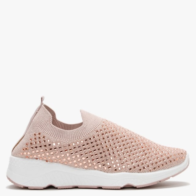 Miss KG Lucca Lace Up Trainers, White at John Lewis & Partners