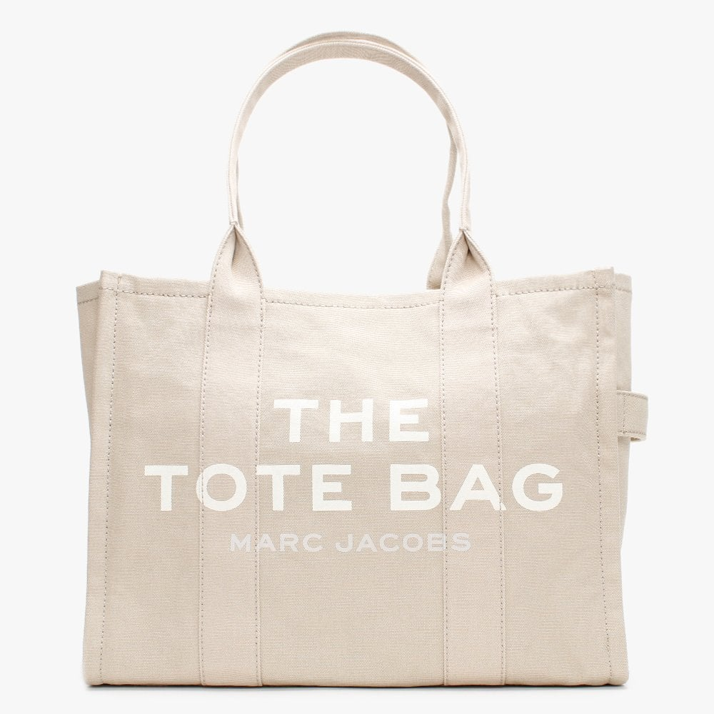 The Traveler Beige Canvas Tote Bag