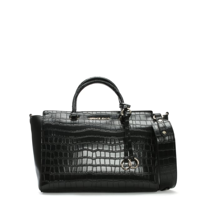 Versace Jeans Moc Croc Black Day Bag 5bbcbb1ee4727