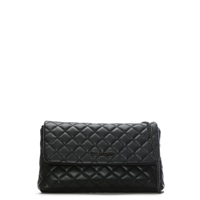 Love Moschino Molly Black Quilted Cross-Body Bag