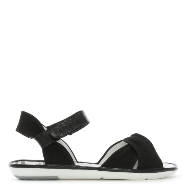 Mome-Black-Suede-Knotted-Strap-Sandals