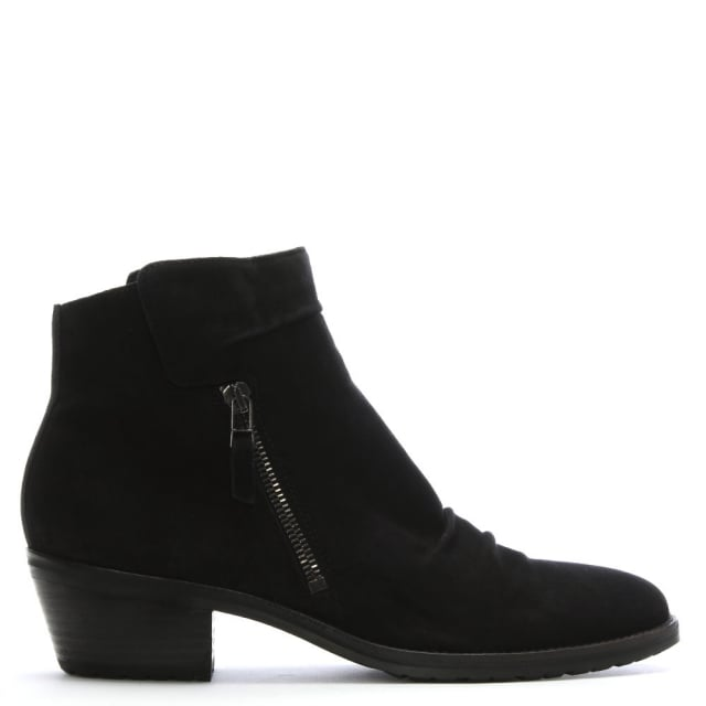 Suede Monkwell Low Heel Ankle Boot