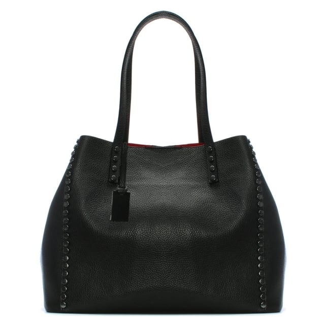 4c3d11bad Daniel Mooch Black Tumbled Leather Studded Tote Bag