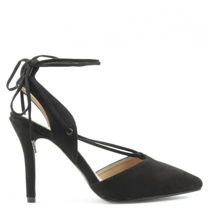 Moorfield Black Criss Cross Stiletto Sandal