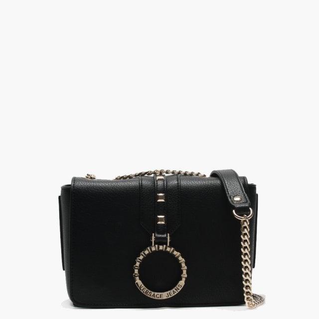 f82517400dbe Versace Jeans Moscow Black Circular Logo Shoulder Bag