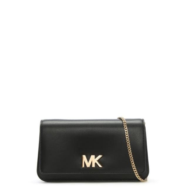 8d077f713912 Michael Kors Mott Black Leather Large Clutch Bag