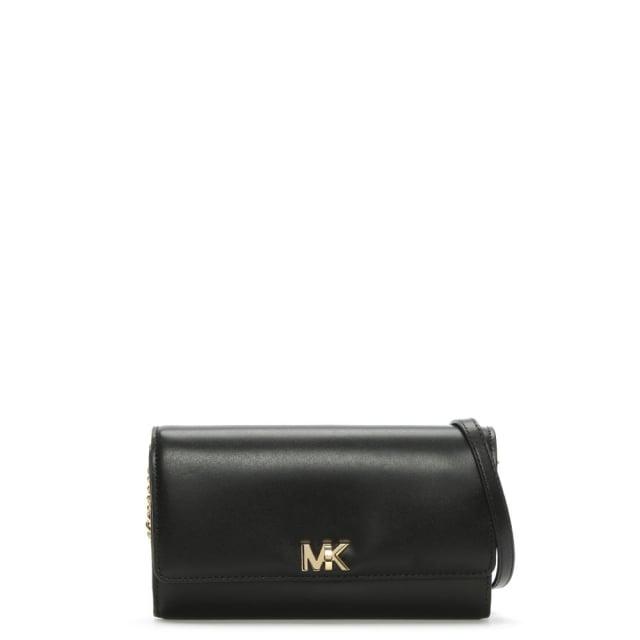 7893206823004 Michael Kors Mott Black Leather Wallet Clutch Bag