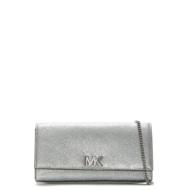 ffb9a326739 Michael Kors Mott Silver Leather Clutch Bag