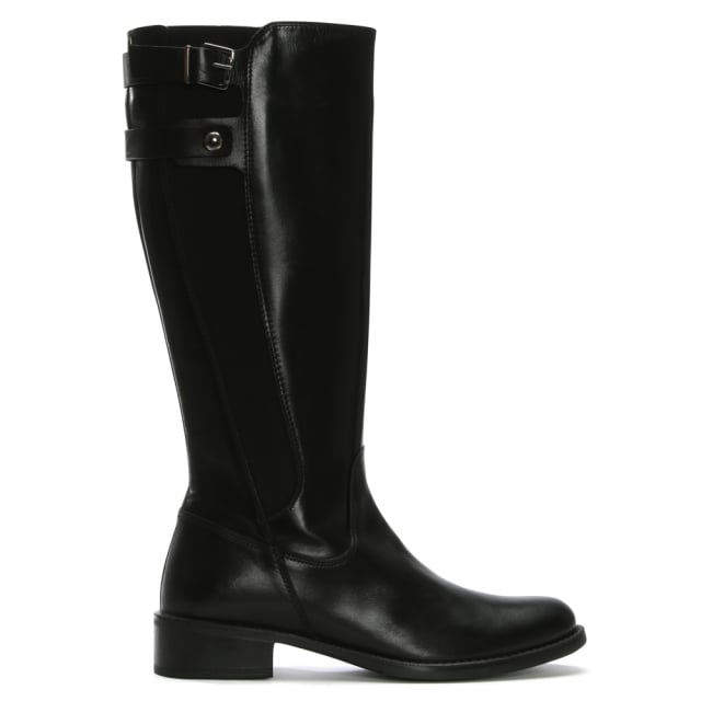 DF By Daniel Mumbles Black Leather Riding Boots