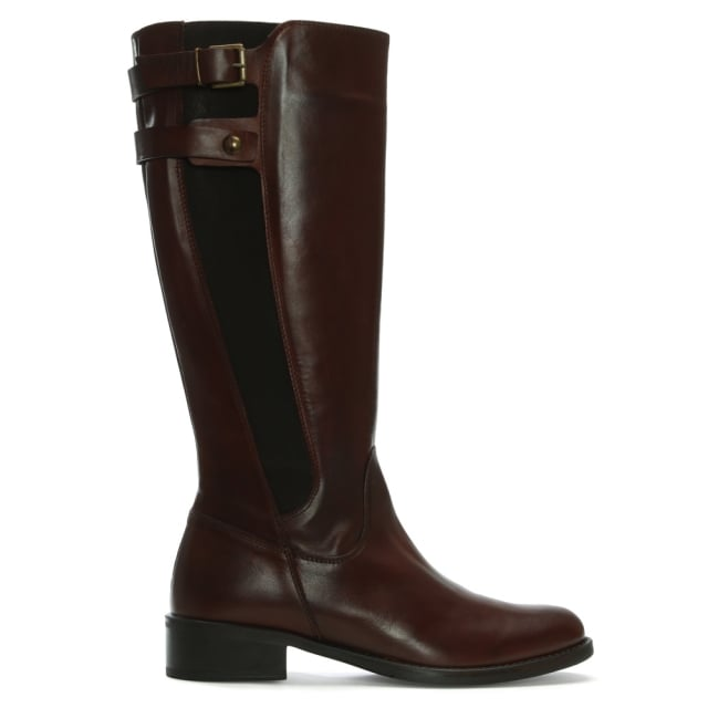 DF By Daniel Mumbles Tan Leather Riding Boots